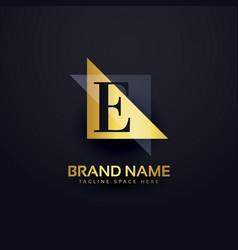 letter e premium logo design in modern style vector image