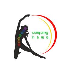 logo yoga12 vector image