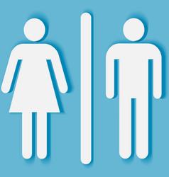 Man and woman bathroom symbol vector