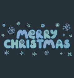 merry christmas caption vector image