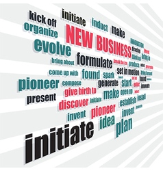 new business words vector image