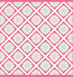 oriental seamless geometric fabric pattern vector image