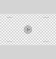 Overlay play video vector