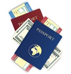 passport 09 vector image