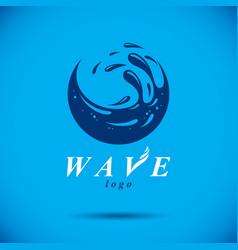pure aqua ecology symbol human water consumption vector image