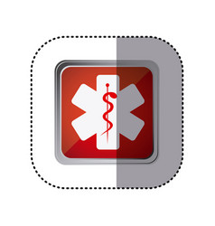 red emblem star medicine sign vector image