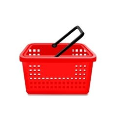 Red Supermarket Basket Isolated vector