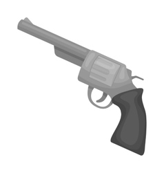 Revolver icon in monochrome style isolated on vector image