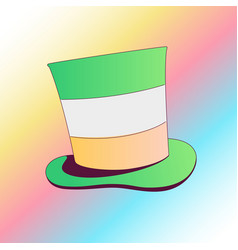 saint patricks day green card color vector image