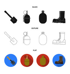 sapper blade hand grenade army flask soldier vector image