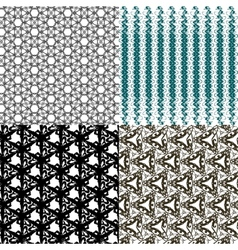 Set of pattern Modern stylish texture Repeating vector