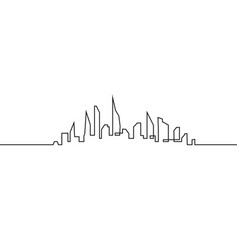 silhouette of the city in a flat style modern vector image