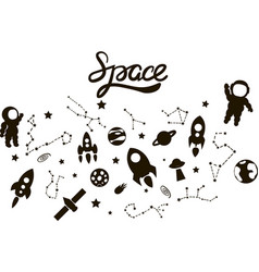 Space isolated set vector