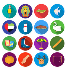 Textiles cafes hobbies and other web icon in vector