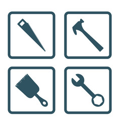 tools icon set icon design vector image