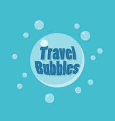 Travel bubles icon concept vector
