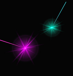 Two laser beams vector