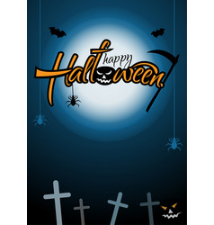 vertical festive poster for halloween happy vector image