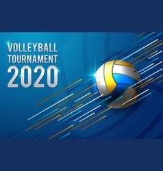 Volleyball tournament poster template design vector