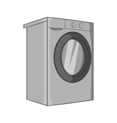 Washer icon black monochrome style vector image