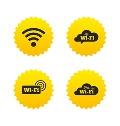 Wifi Wireless Network icons Wi-fi speech bubble vector image