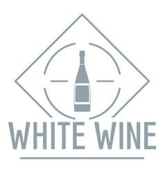 wine logo simple gray style vector image