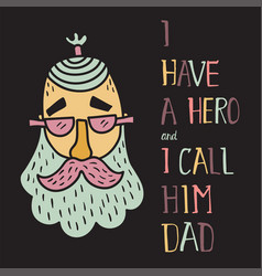 hero dad four vector image