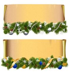 Christmas Scroll Set 2 vector image