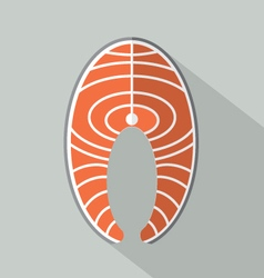 Flat Design Salmon Icon vector image vector image
