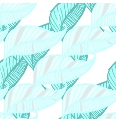Hand Drawn Feather Seamless Background vector image vector image