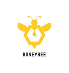 abstract honey bee sign vector image vector image
