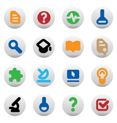 Buttons for science vector image vector image