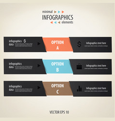 infographics minimal vector image vector image