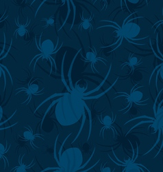 seamless spider pattern two vector image vector image