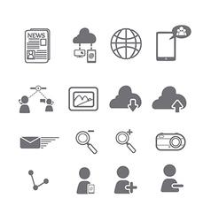 Social media icons eps vector image vector image