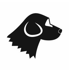 Beagle dog icon simple style vector