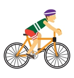 Boy Wearing Protective Helmet While Riding a Bike vector image vector image