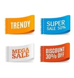 Clothes Fabric Sale Labels Set vector image