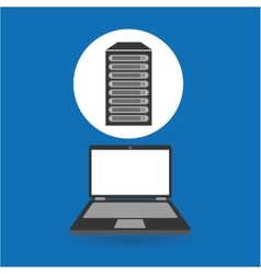 computer analysis data base server vector image