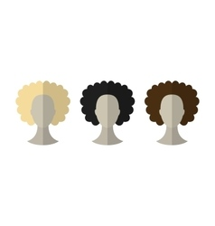 Flat icon hairstyles Blonde brunette Different vector image vector image