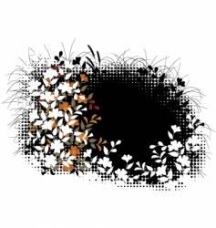 floral halftone vector image vector image