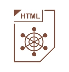 HTML file icon cartoon style vector image