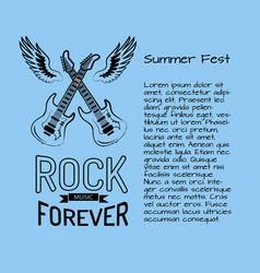 rock music forever summer fest vector image