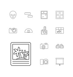 13 frame icons vector