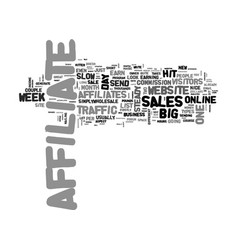 A tale of two affiliates text word cloud concept vector