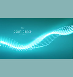 abstract cyan particle wave points array vector image