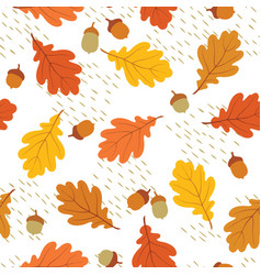 autumn leaves seamless pattern fall leaf and vector image