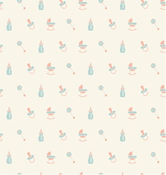 Baby patternOrangeturquoise beige colors vector