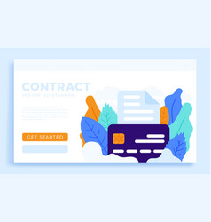 bank document with credit card stock isolated vector image
