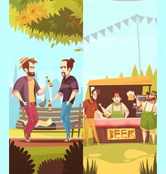 Beer vertical banners vector
